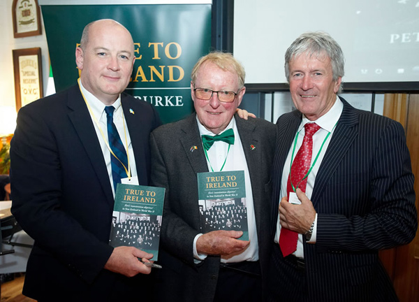 Irelands Ambassador to New Zealand, Peter Ryan, Peter Burke, and Damien O'Connor the Minister of Agriculture